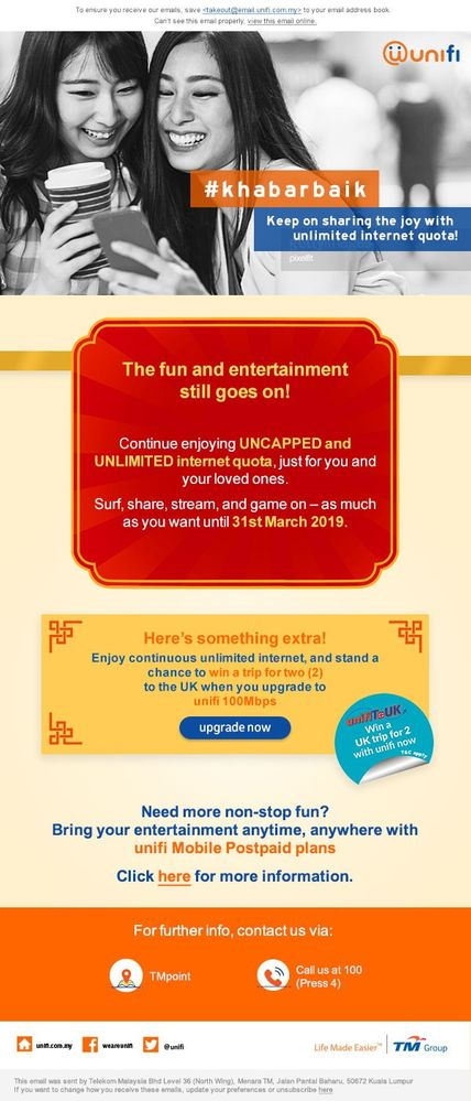 7dc0f7b8f8 Extension of uncapped   unlimited quota for unifi Basic Plan - Now until  31st March!